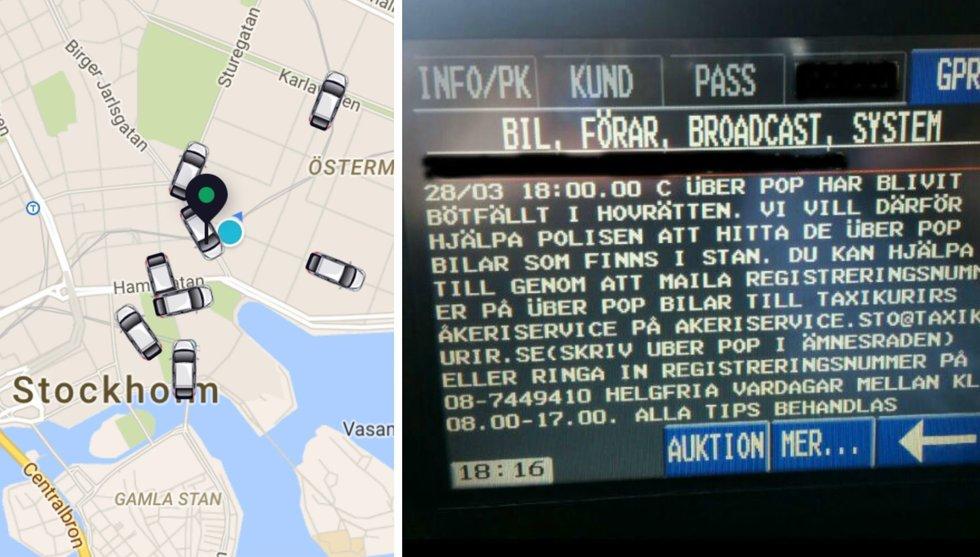 Taxibolag uppmanar förarna: Ange Uber Pop-bilar till polisen