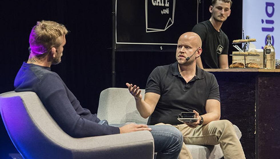 Breakit - Tungviktsmötet på techfesten: Daniel Ek frågade ut The Mauler