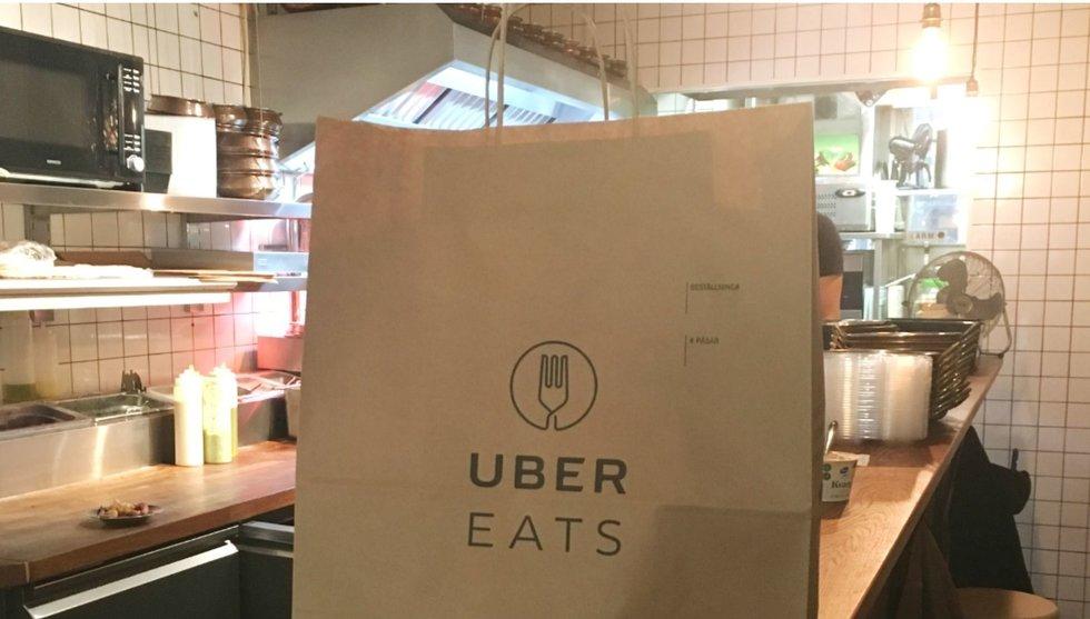 Bildbeviset: Nu har Uber Eats smyglanserats i Stockholm