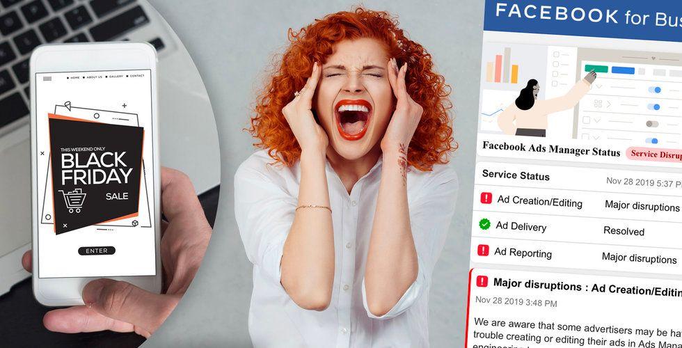 Facebooks ads manager kollapsar – med bara timmar kvar till Black Friday