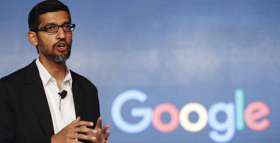 Googles Sundar Pichai vittnar inför amerikanska kongressen