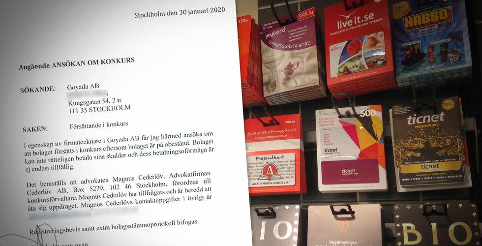 Goyada i konkurs – 10.000-tals svenskar kan drabbas