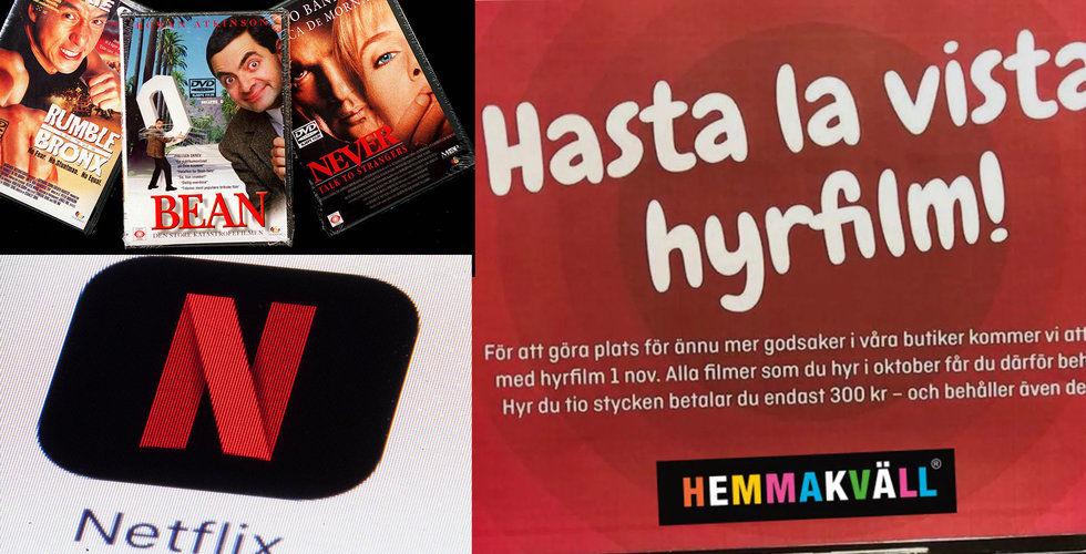 Hyrfilms-eran är nu officiellt över i Sverige – nu slutar Hemmakväll hyra ut film