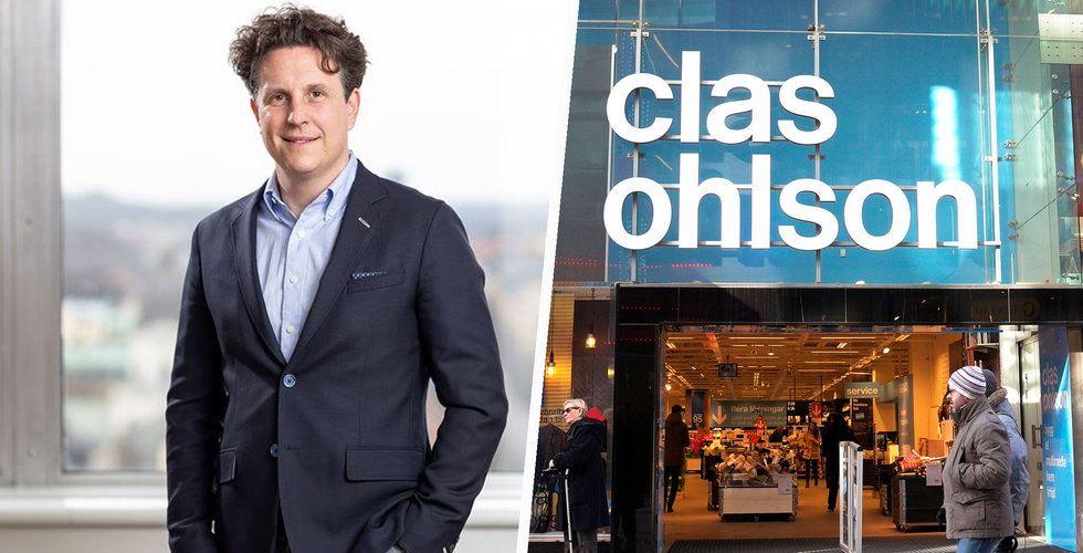 Sämre än väntat för Clas Ohlsons e-handel i augusti