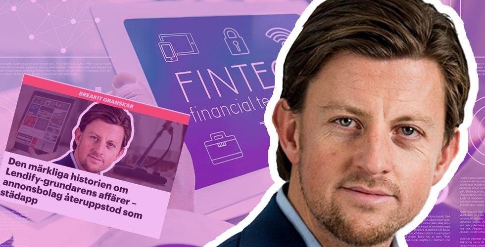 Lendifys avhoppade grundare John-Christian de Champs drar igång ny fintech-startup