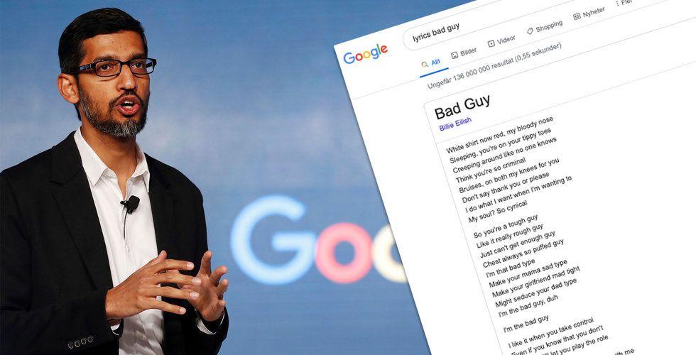 Google stäms för kopierade låttexter