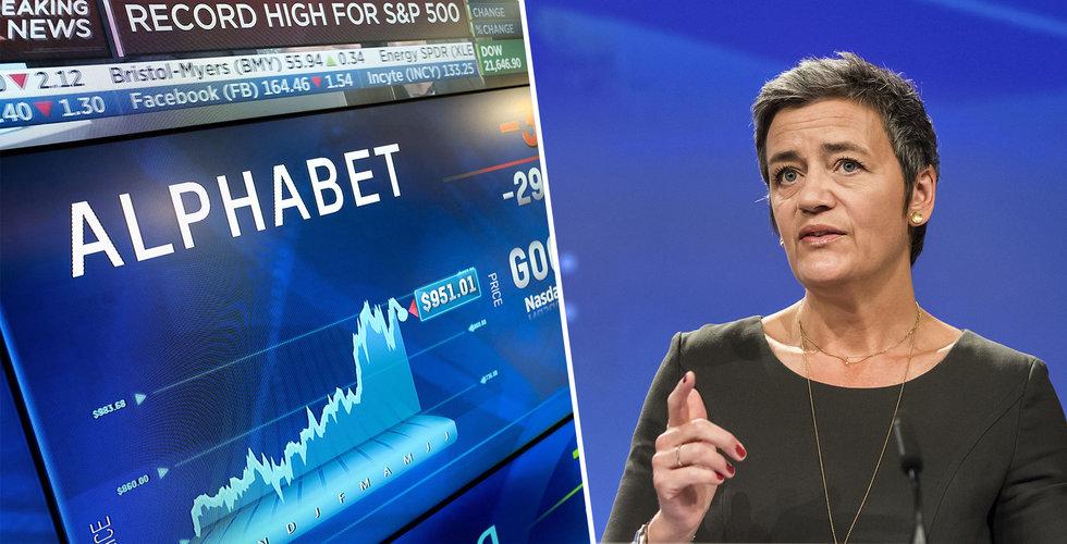 EU förbereder gigantbot för Google – då faller aktien