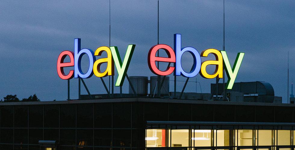 Ebays resultat svagt högre än väntat - aktien backade i efterhandeln