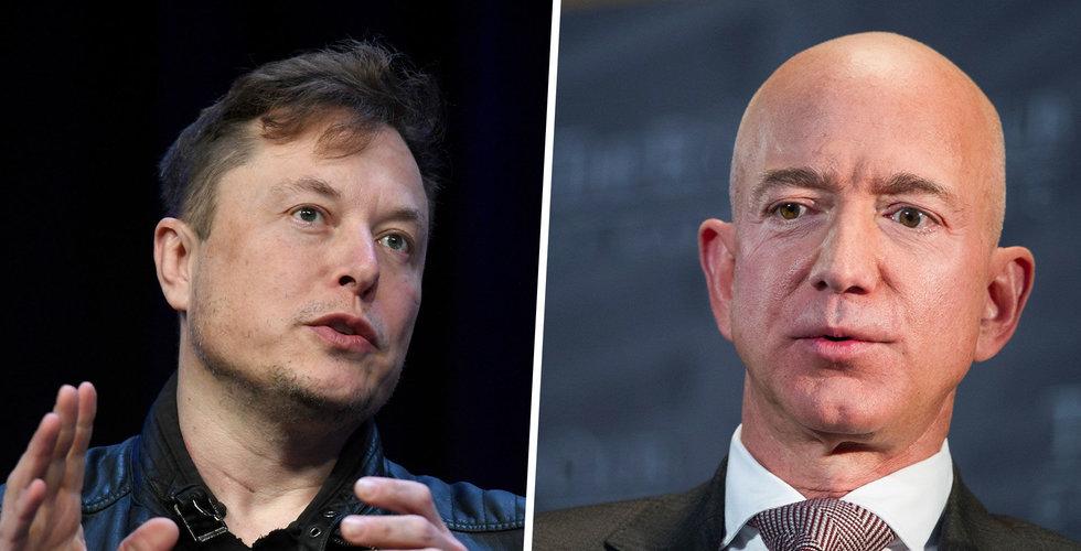 """Elon Musk på Twitter: """"Stycka upp Amazon"""""""