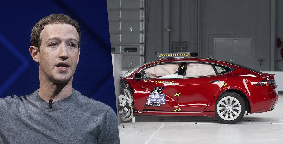 Facebooks börsras: Lika stort som hela Tesla