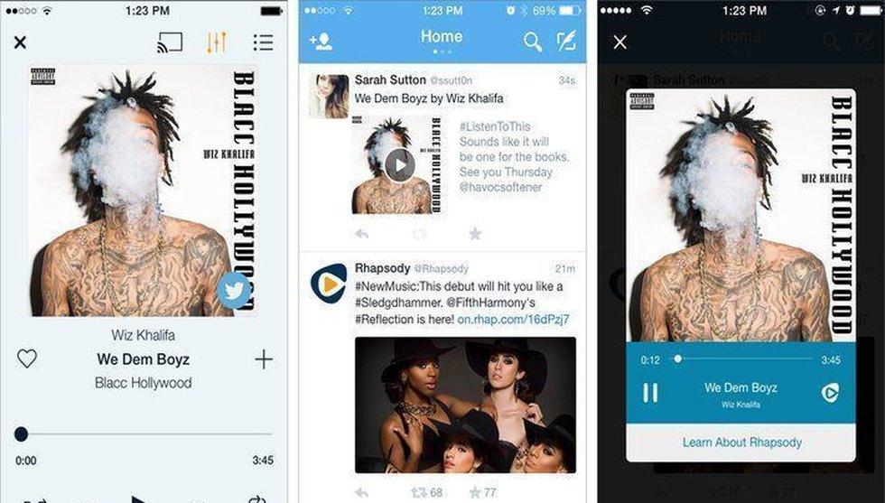 Breakit - Spotify-konkurrenten Rhapsody slår sina påsar ihop med Twitter