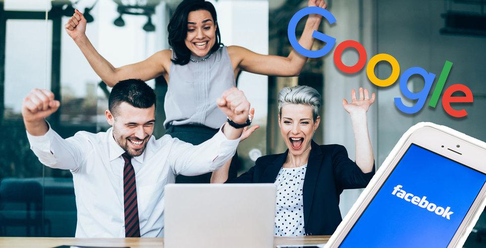 Så hög lön har de anställda på Facebook och Google – i Sverige