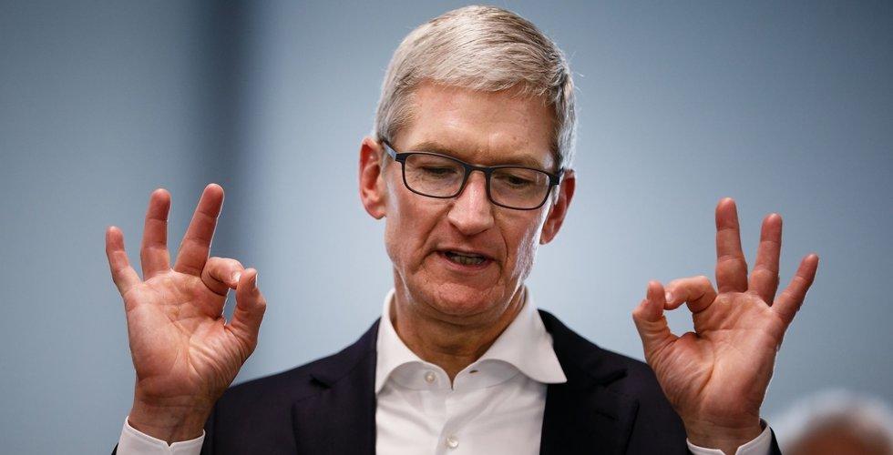 Apples kassa minskar men ligger fortfarande på mer än 2.000 miljarder