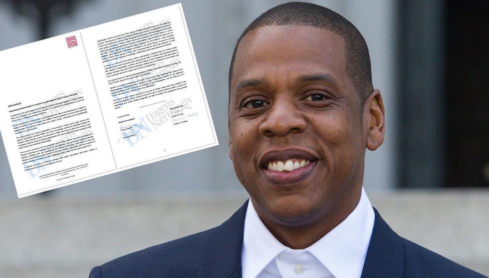 Här är kravbrevet som Tidal och Jay Z skickade till svenska ägarna