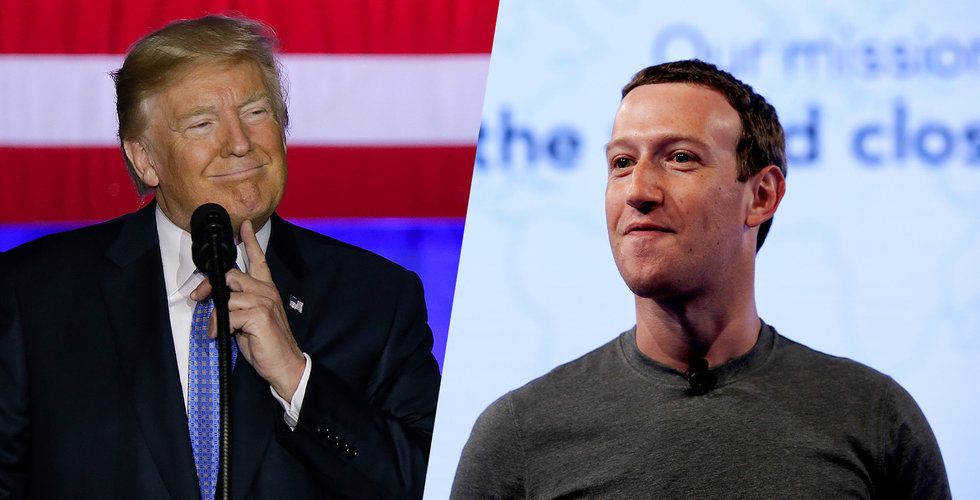 """Zuckerberg om Trumps kritik: """"Så här en plattform för alla idéer ser ut"""""""