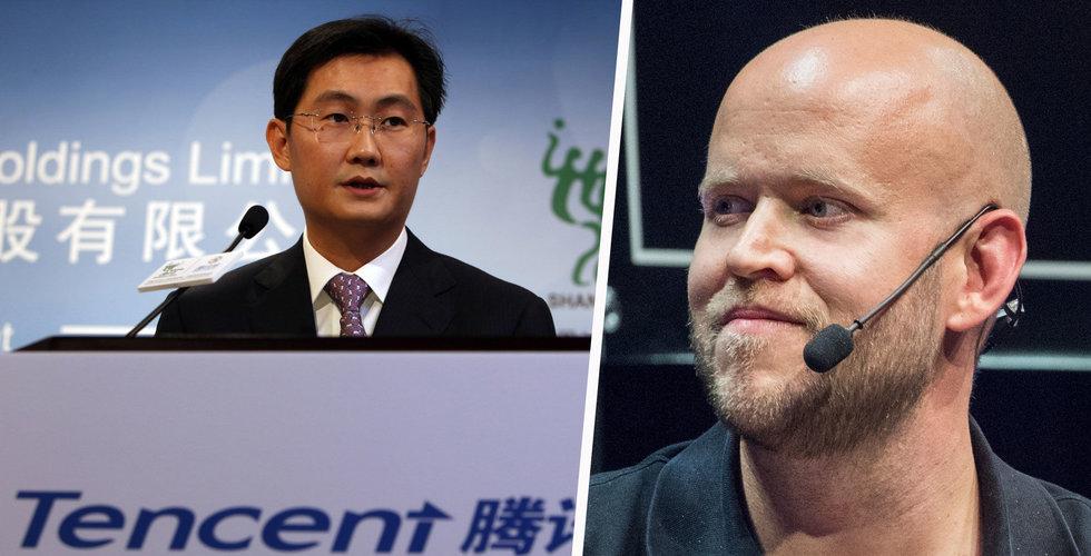 Breakit - Tencent och Spotify i jätteaffär