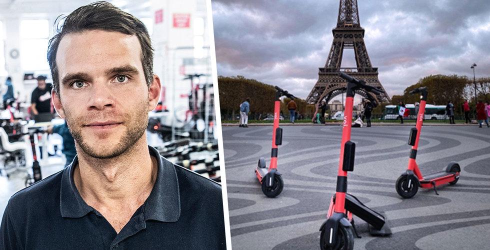 Tungt bakslag för Voi – tvingas lämna Paris