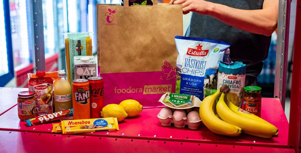 Foodora gasar med sina snabba matkassar – öppnar 15 nya butiker