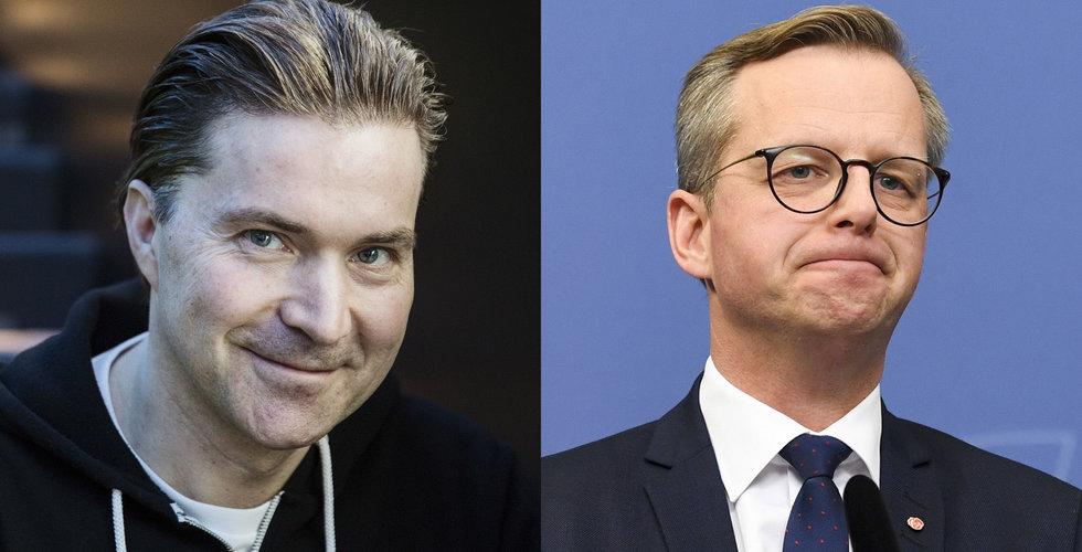 """Spotify-grundarens mess till ministern vid börsdebuten: """"Skämtade lite"""""""