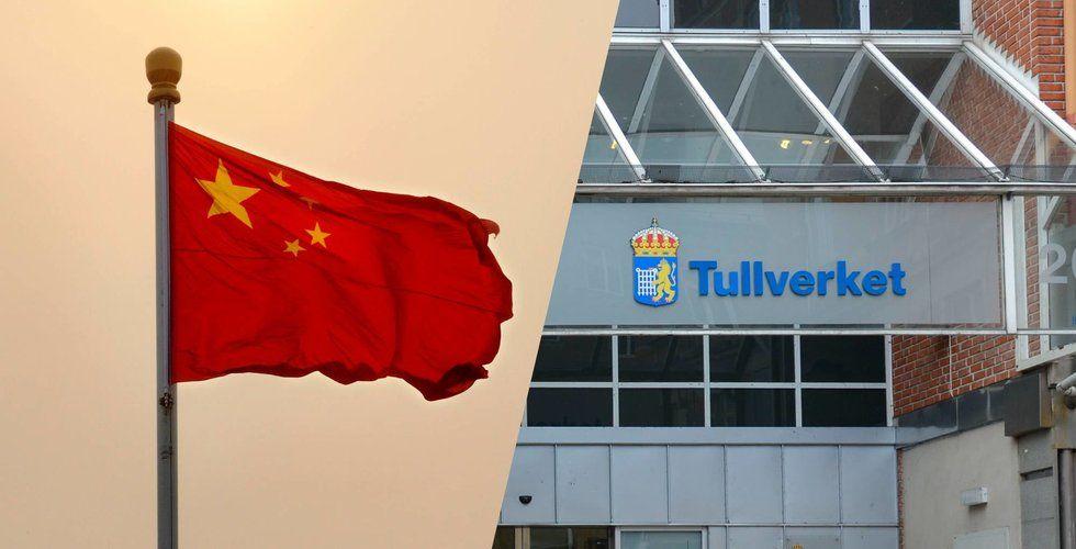 Tullverket på toppmöte i Kina – diskuterade Wish-paket