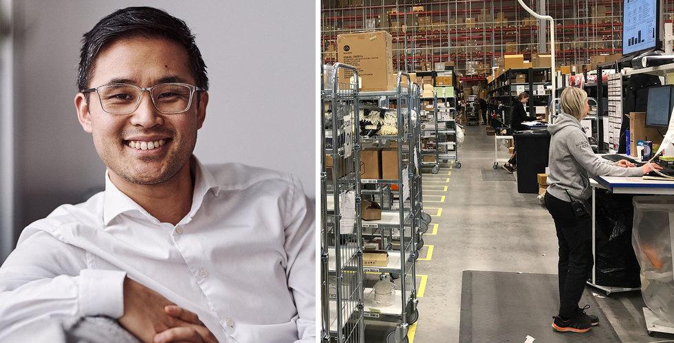 Nordic Nest växte ur lagret på 10 månader – kan tvingas sätta upp lagertält
