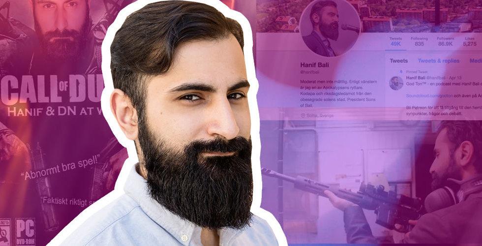 Jag har synat fenomenet Hanif Bali – så mäktig är han (på nätet)