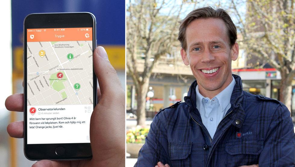 Nu ska Stockholm bli en säkrare plats – med hjälp av hans app
