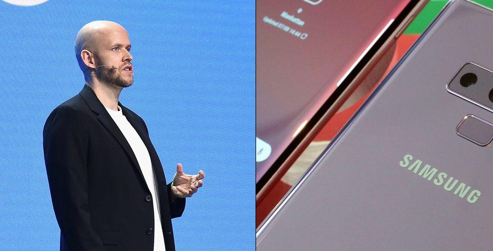 Breakit - Spotify startar samarbete med teknikjätten Samsung – utmanar Apple