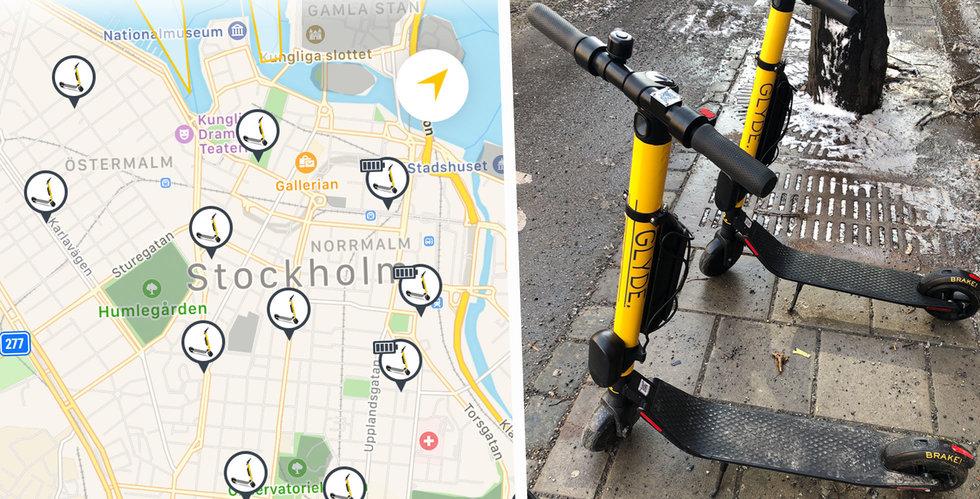 Glyde ny utmanare bland elsparkcyklarna – cyklar redan på plats i Stockholm