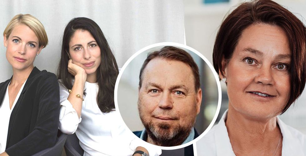 Backing Minds Sara Wimmercranz, Susanne Najafi, Dynamics ordförande Petter Lundström och grundare Anne Kihlgren. Foto: Pressbild/Montage