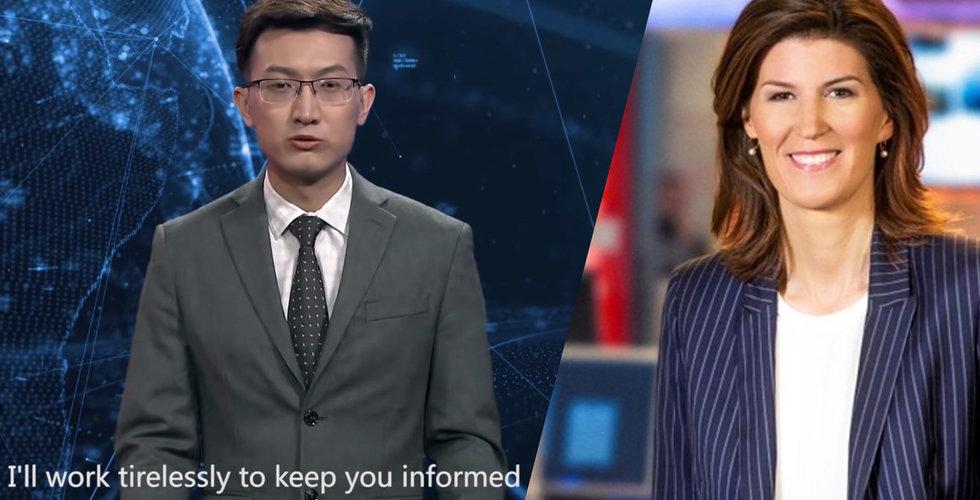 """Nyhetsankaret om AI-uppläsaren: """"Tittarna gillar när vi är mänskliga"""""""
