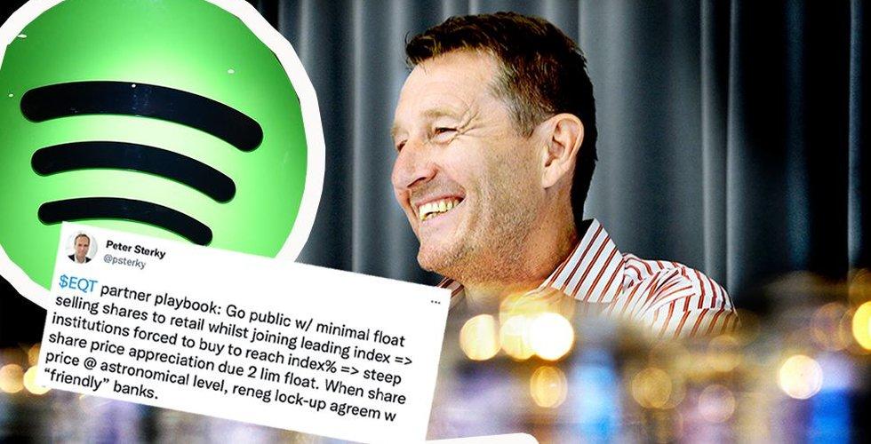 Spotifyveteranens skarpa kritik mot EQT