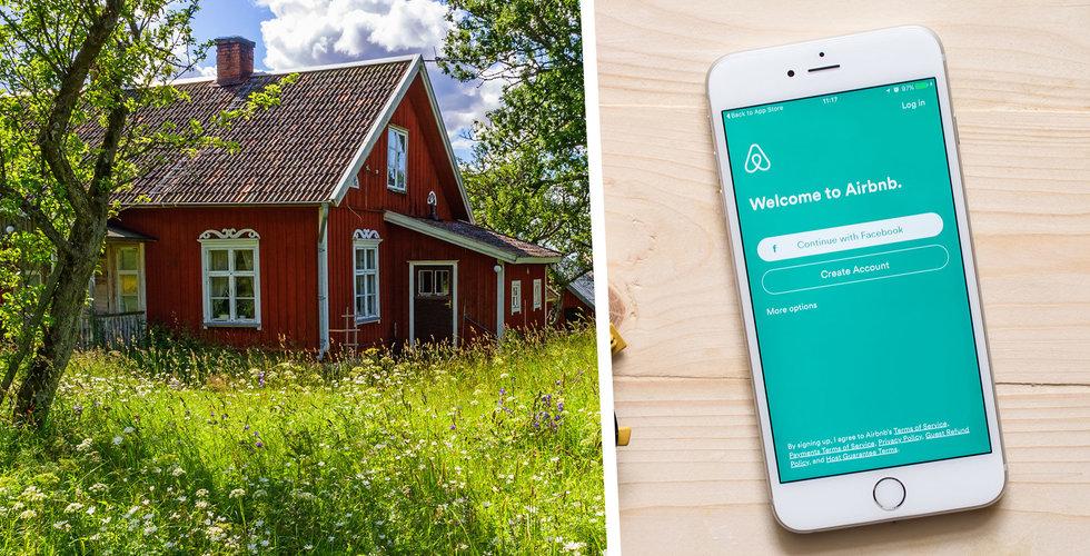 """Rusning till Airbnb när svenskarna stannar hemma: """"Hektisk sommar"""""""