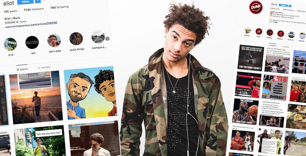 20-årige Eliot Robinson bygger miljonpublik med basket på Instagram