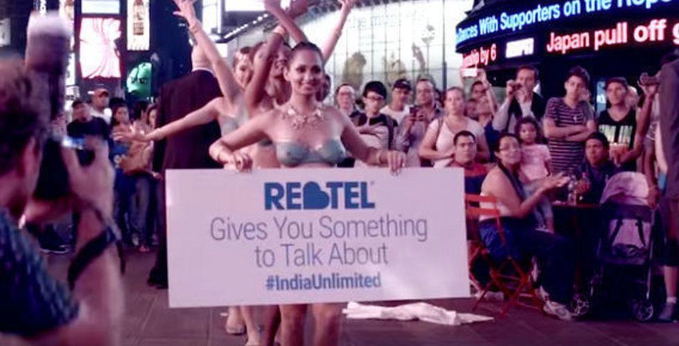 Svenska Rebtel marknadsför sina ringtjänster med nakna kvinnor