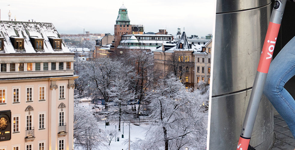 Snö i Stockholm – då försvann Vois sparkcyklar från gatorna