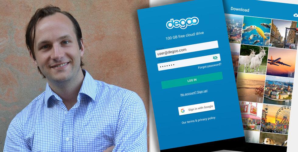 Dropbox-utmanaren Degoo tar in nytt kapital från tunga affärsänglar