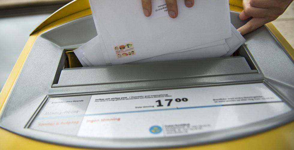 Postnord slutar hämta post på söndagar