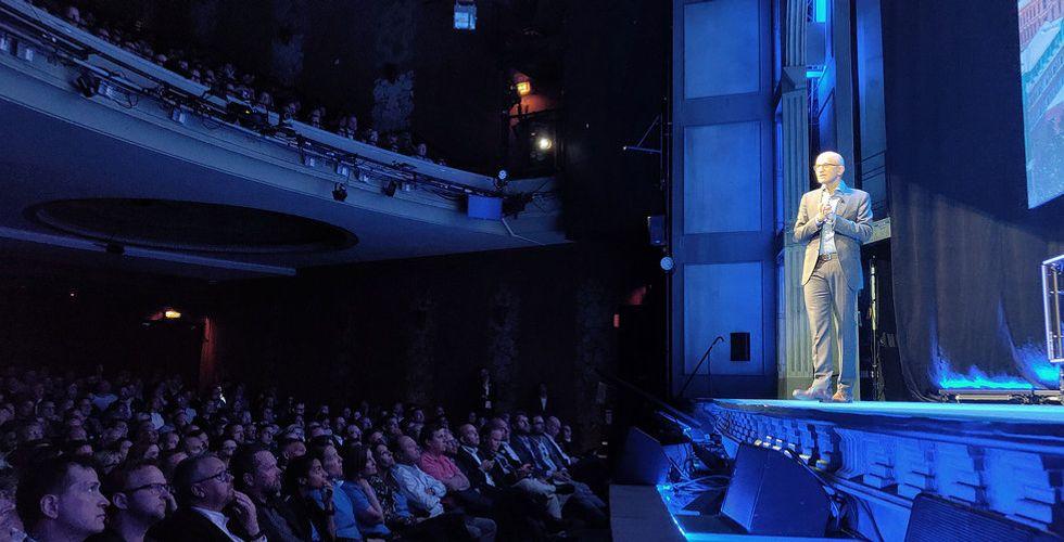 """Microsofts vd Satya Nadella i Stockholm: """"Säker data en mänsklig rättighet"""""""