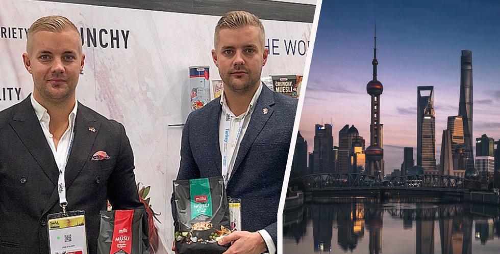 Bröderna exporterar svenska produkter för mångmiljoner till Kina