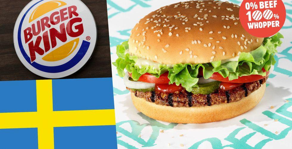 """Burger King hakar på """"fejk-kött""""-trenden l Sverige – släpper vegoburgaren Unbelievable Whopper"""