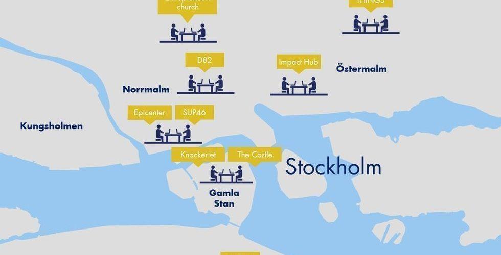 Kartläggning: Så mycket kostar det att sitta på co-workingspace