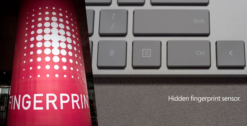 Fingerprint Cards teknik i Microsofts nya tangentbord