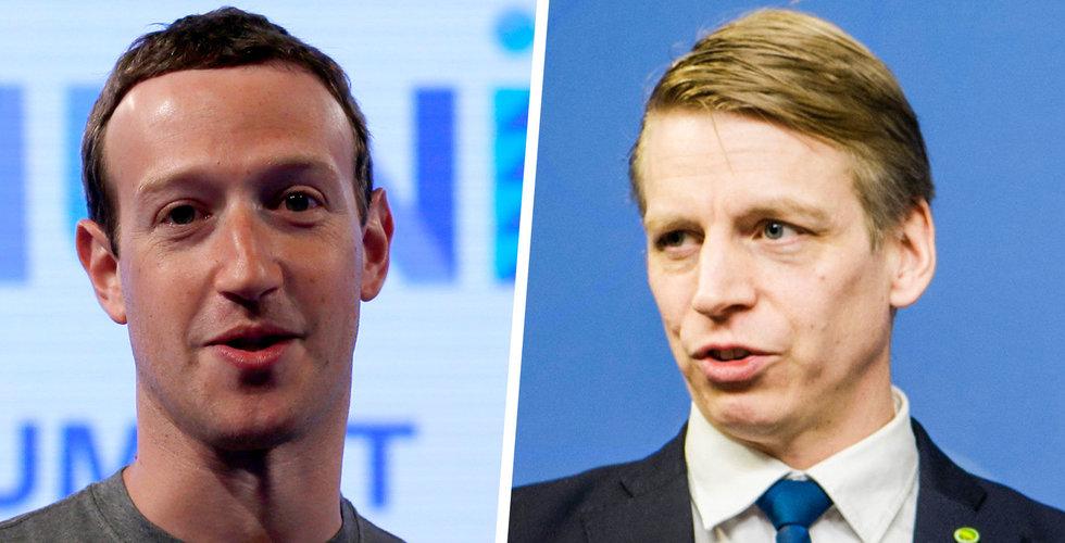 Finansmarknadsministern Per Bolund sågar Facebooks kryptovaluta Libra