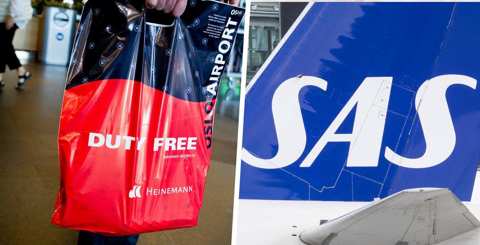 SAS slutar med taxfreeförsäljning ombord till hösten