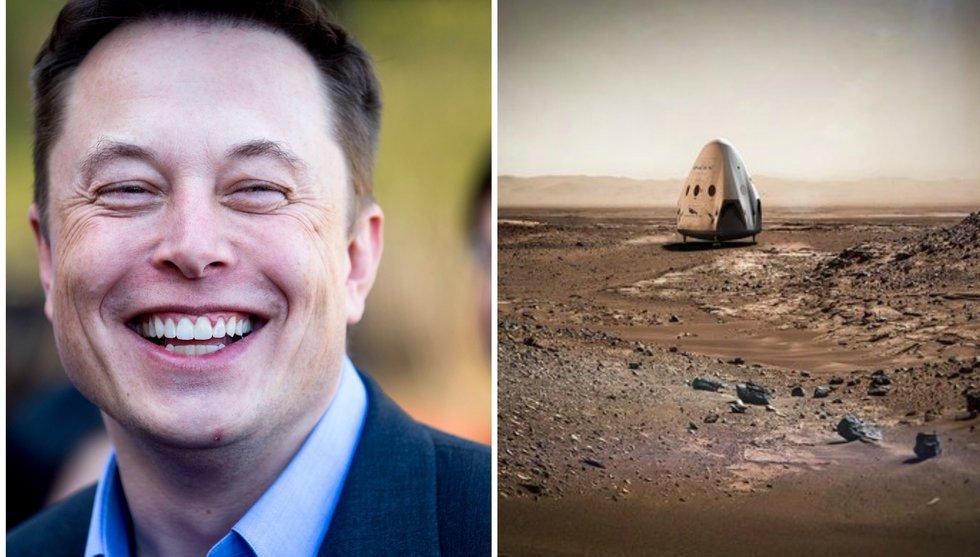 Breakit - Elon Musks rymdstartup siktar på att nå Mars - kanske redan 2018