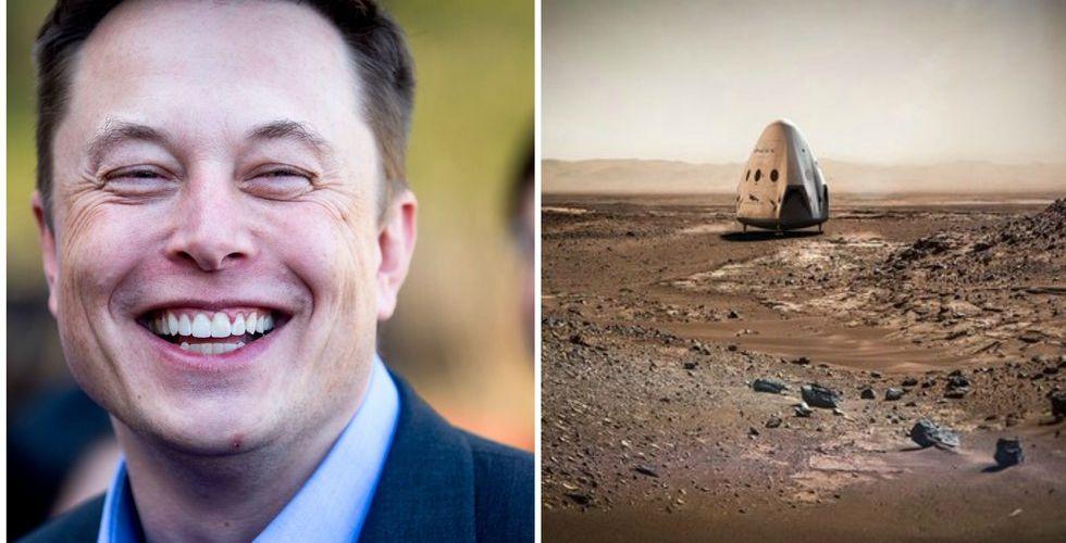 Elon Musks rymdstartup siktar på att nå Mars - kanske redan 2018