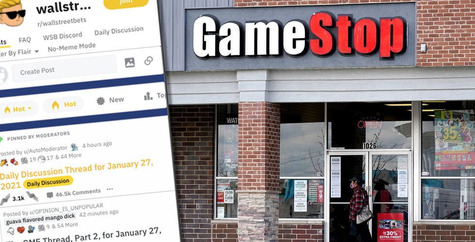 Nätforumet fick Gamestops aktiekurs att tokrusa – vad händer egentligen?