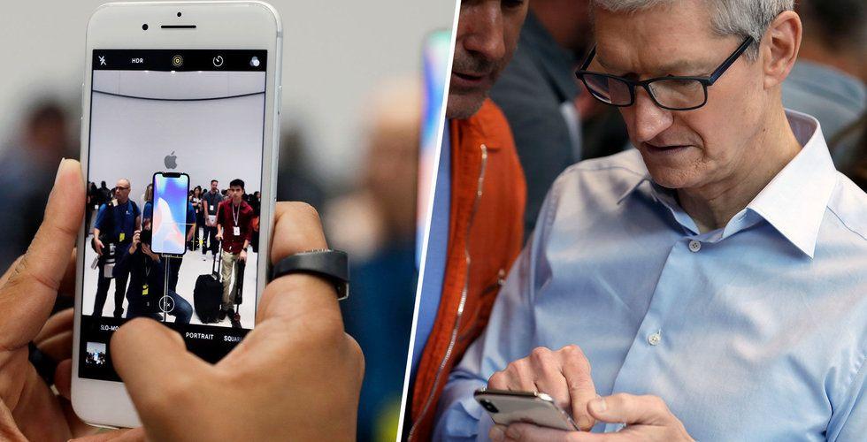 Breakit - Leveransproblem för nya Iphone X – förväntas bara kunna leverera hälften
