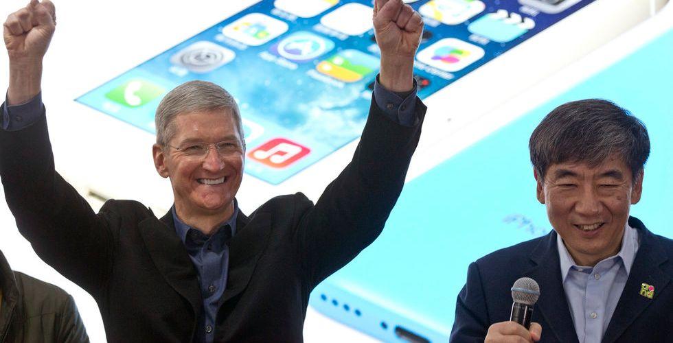 Försäljningsrekord för Apple - Kina viktigaste faktorn bakom succén